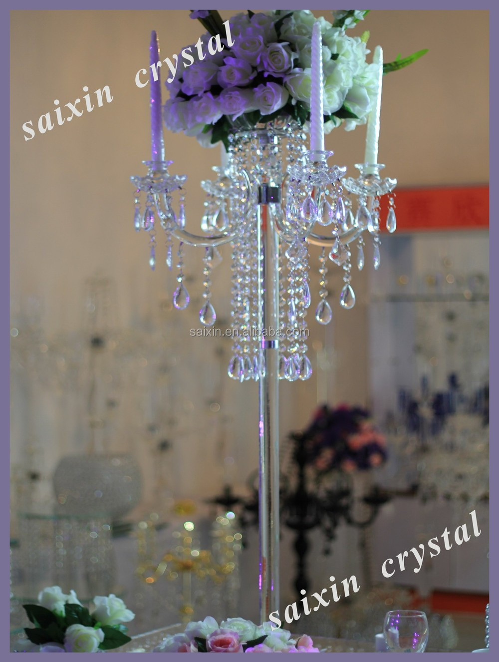Unique crystal candelabra centerpieces for wedding table unique crystal candelabra centerpieces for wedding table decoration zt 185 aloadofball Image collections
