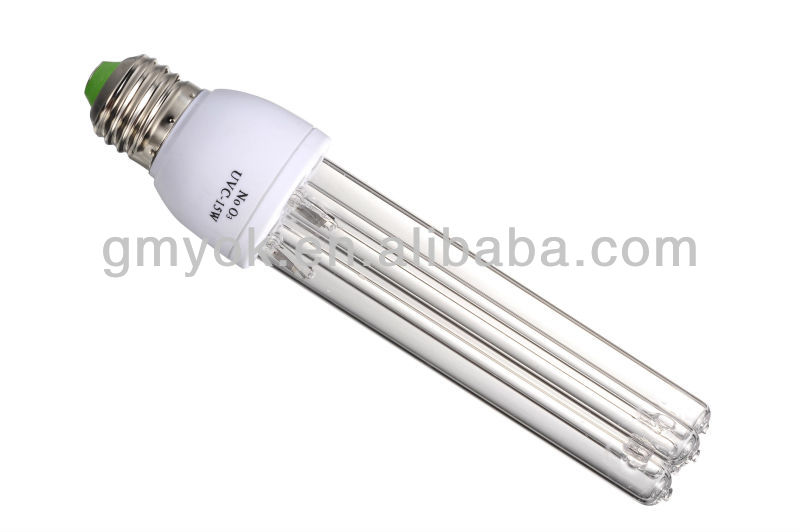 8,000h lifetime 2H shape uvc 254nm germicidal lamp with self-ballast uv lamp E27 220v