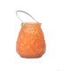 Thick orange hanging glass ball candle holder