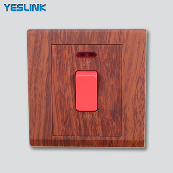 20a Red Wooden Zigbee Wall Switch With Led Indicator Light Buy