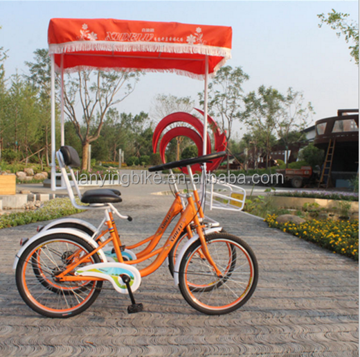 china made four wheel surrey bike/two person surrey bike/used quadricycle surrey sightseeing bike