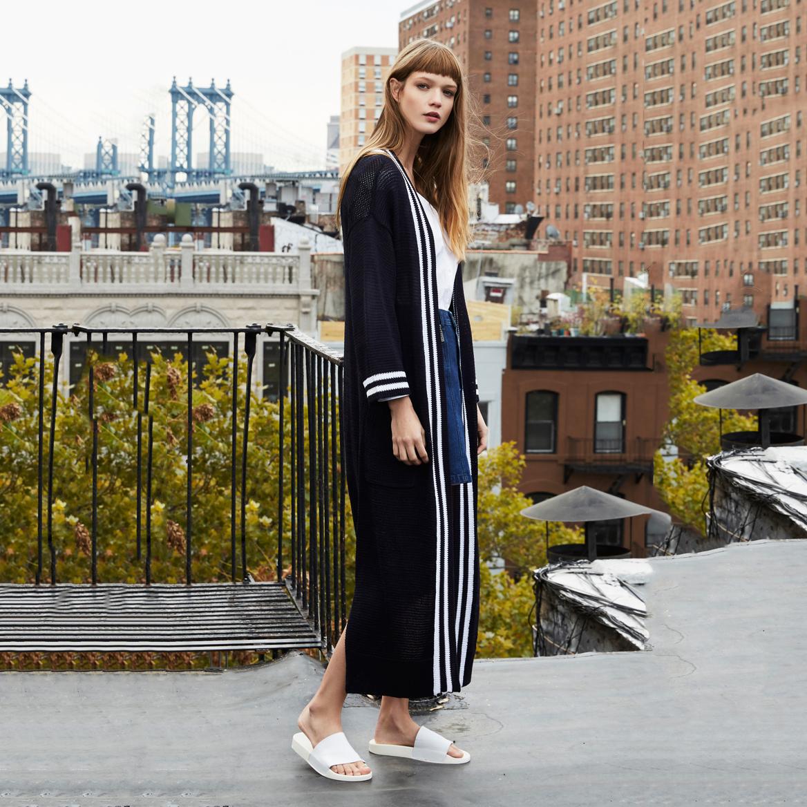 패션 니트 women 긴 cardigan sweater coat