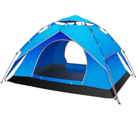 3-4 people automatic tent outdoor camping large family camping tent