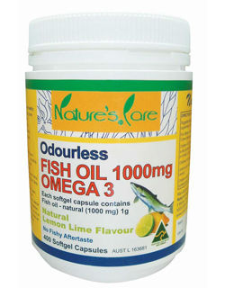 Odourless fish oil omega3 1000mg 400 caps buy omega3 for Fish oil gout