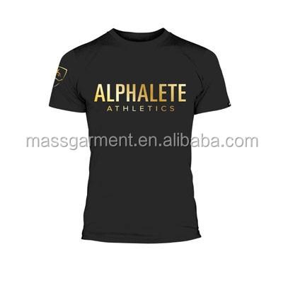 Wholesale Men Gym Performance T Shirts Sport Fitness T