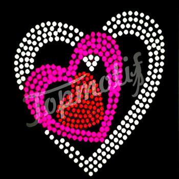 Popular heart rhinestone template on hotfix transfer for Rhinestone template material wholesale
