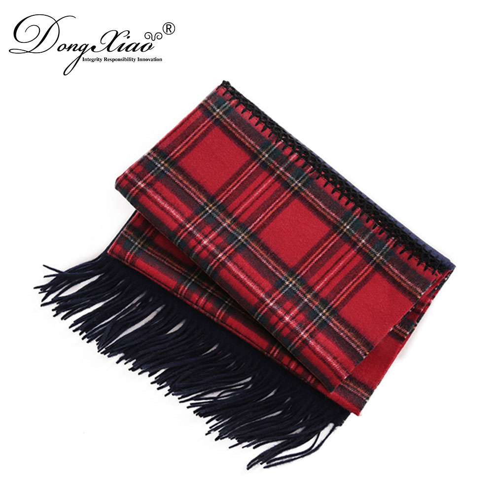 wholesale beautiful red checked pure <strong>merino</strong> <strong>wool</strong> <strong>scarf</strong> for men