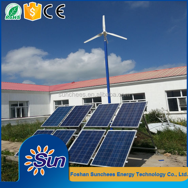 6KW solarwind hybrid system, 4kw solar panel +2kw wind turbine, Hybrid energy system for home