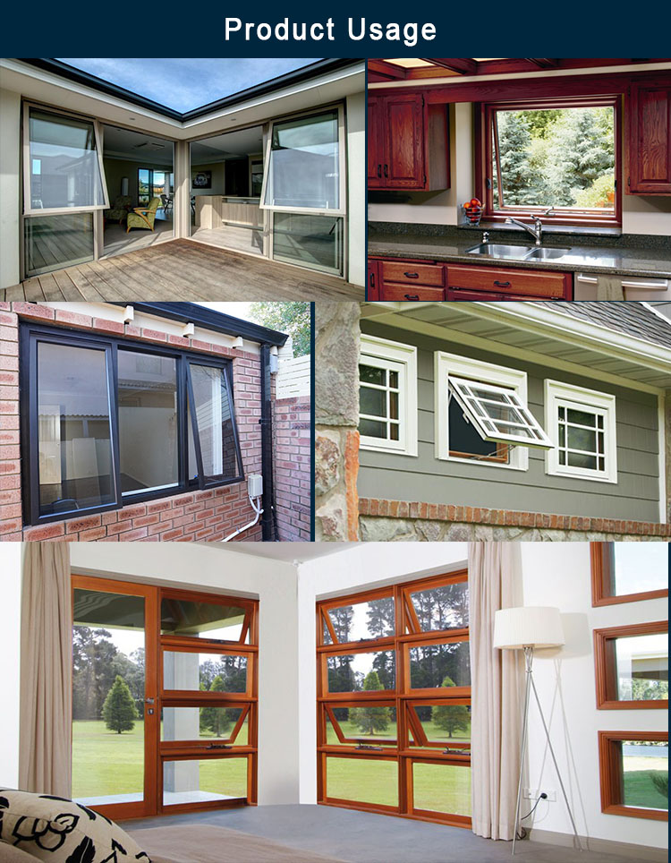 New Style Ventilation Casement Windows Heat Insulating Aluminum Casement Windows Long Casement Windows