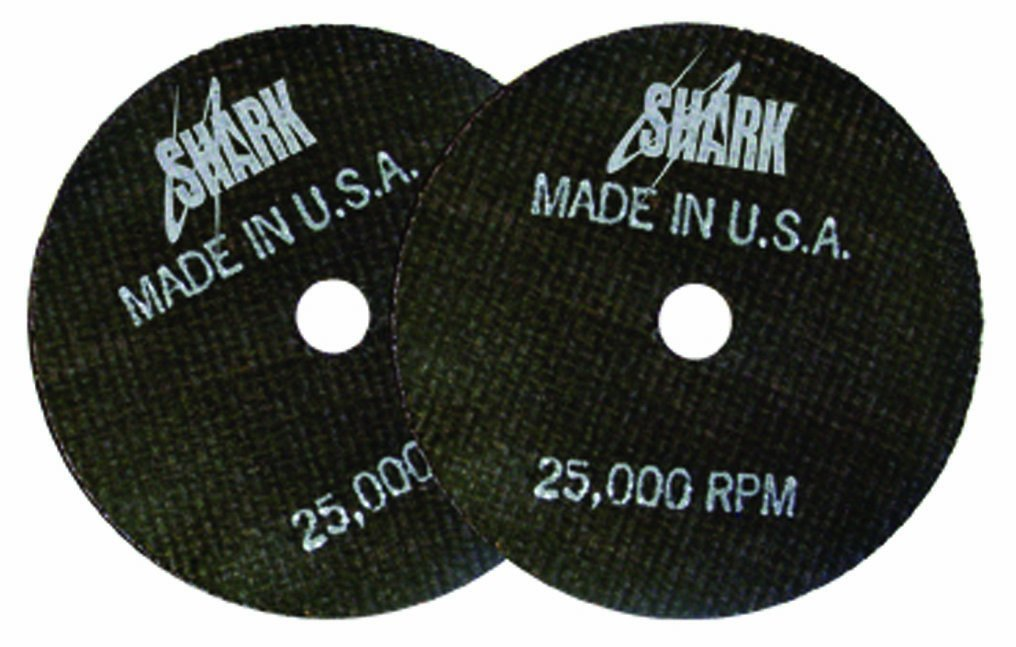 Shark 12702 3-Inch by 1/16-Inch by 1/4-Inch 10-Pack Double Reinforced Cut-off Wheels