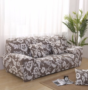yueer china 100% polyester printed elastic 1-2-3-4 seat sofa cover for leather sofa