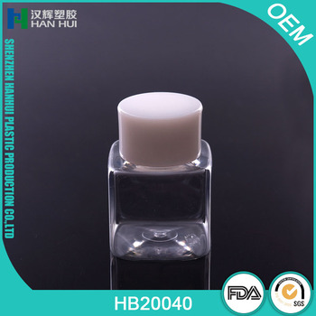 FACTORY PLASTIC PET MINI SQUARE 40ML EMPTY PET BOTTLES