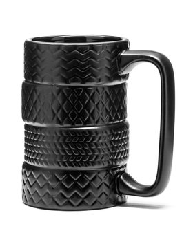 Automotive ceramic tyre mug for all drivers and car fans