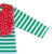 Wholesale spring newborn baby long sleeve green stripe red wave point romper