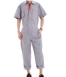 Grey Cotton Factory Uniform Worker Coverall