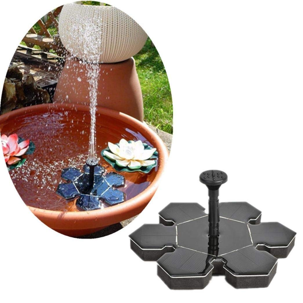 WensLTD Solar Power Pump, Solar Power Bird Bath Fountain Water Floating Small Pond Garden Patio Decoration