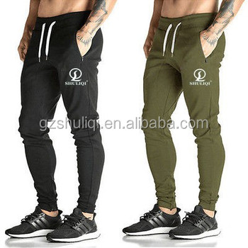 design your logo mens slim fit joggers sweat pants cotton blank tracksuit  bottoms men tapered fit a0e5709455