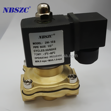 High Quality square coil Brass 220v ac water solenoid valve