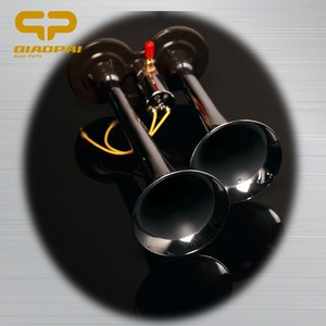 Loud air horn for car 150DB 12V/24V chrome siren two pipes dual ways electric Air Horn trumpet Bus Truck Boat need air brake