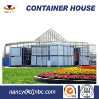 China Low Cost Prefab Steel Structure Sandwich Panel Container Home