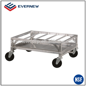 Removable hand cart metal service dolly cart with four wheels