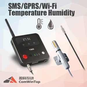 T20 Wireless 4G Gps Gsm Sms Gprs Wifi Temperature Humidity Alarm Sensor Controller Monitor Data Logger System