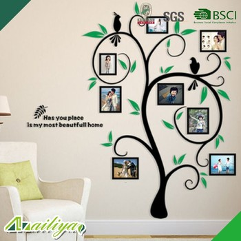 waterproof self adhesive family tree decorative living room 3d wall
