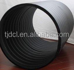 Large Diameter Plastic Drain Pipe / Corrugated Hdpe Pipe Culvert ...