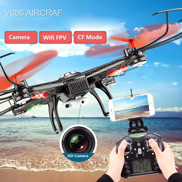 JJRC WLtoys V686K WIFI FPV Headless Mode 6-Axis Gyro 2.4G 4CH FPV Quadcopter