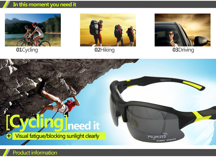 fashion fishing,cycling,moutain bike sport polarized sunglasses (RB0306)