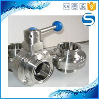 Excellent sanitary quick install butterfly valve