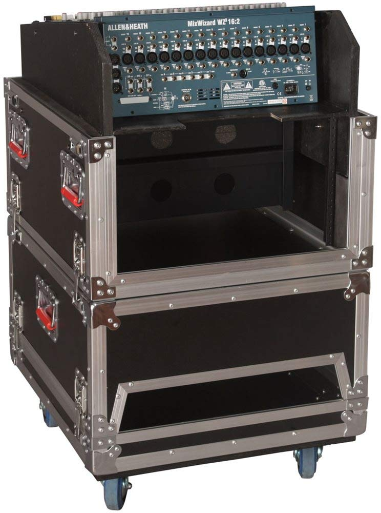 Étui de transport de support robuste 6U côté Audio route Console de support