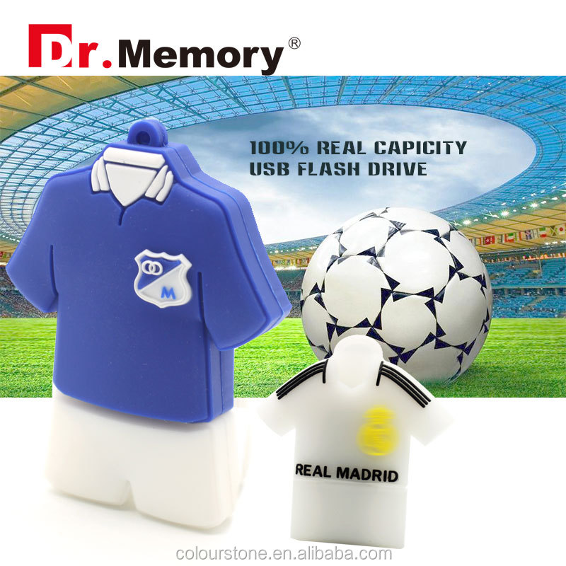 Dr.memory Customise football clothes usb flash drive silicone novelty usb gedget 2GB 4GB 8GB 16GB 32GB PEN drive usb stick