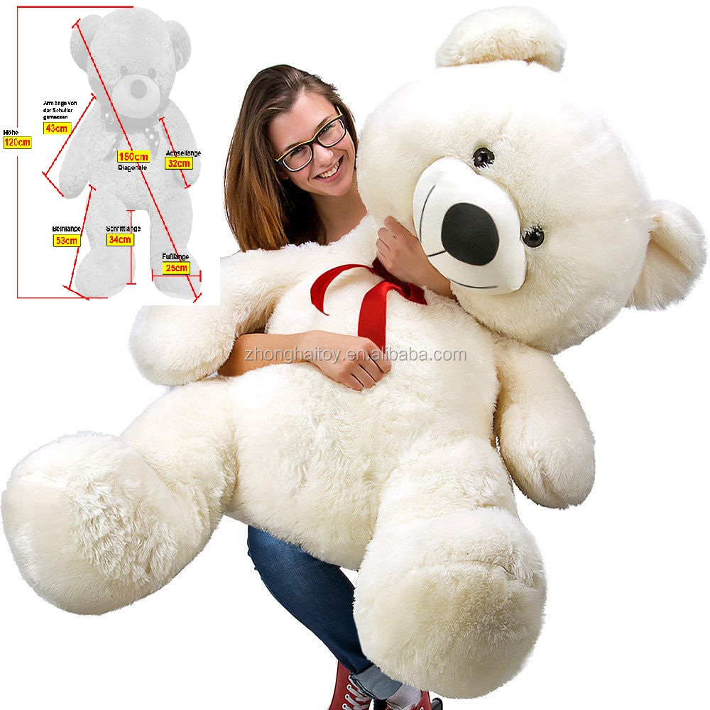 Free Sample Big Size Teddy Bear /Giant Plush Bear Toy/ Huge Plush Teddy Bear