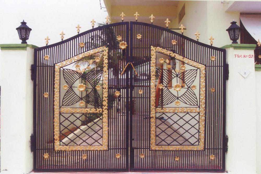 Indian Beautiful Modern House Entrance Main Iron Gate Designs ...