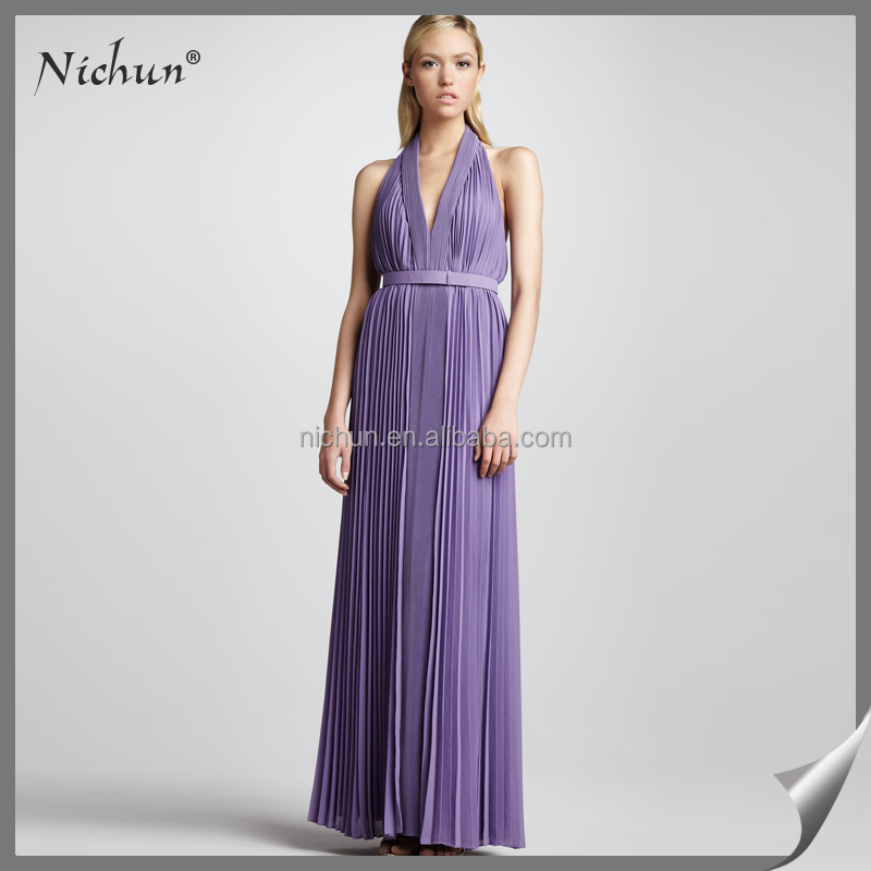 Wholesale Fashionable Ruffle Chiffon Evening Dress Made in China