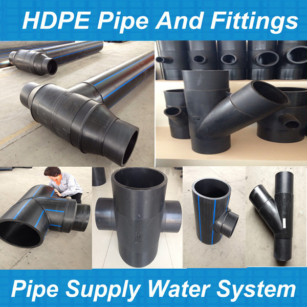 Low price plastic water pipe hdpe fittings for