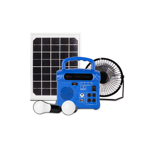 small solar energy solar generator system with radio & bulbs for African Indian market