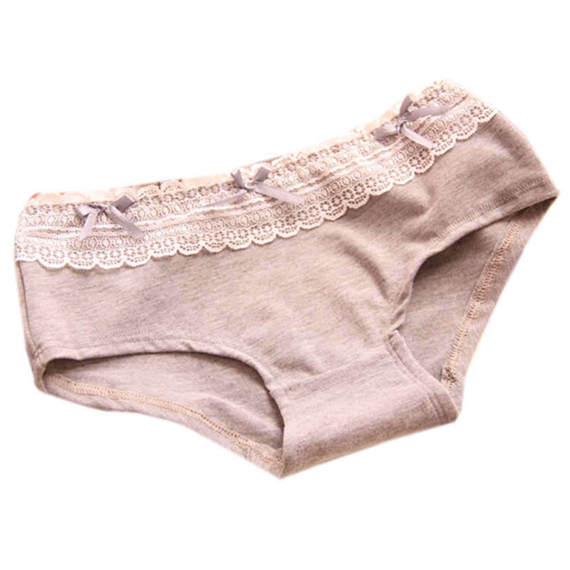 Retail Female Underwear Promotion Womens Briefs Underwear Cute Cotton Lace Sexy Low Waist Women Panties Free Shipping C006