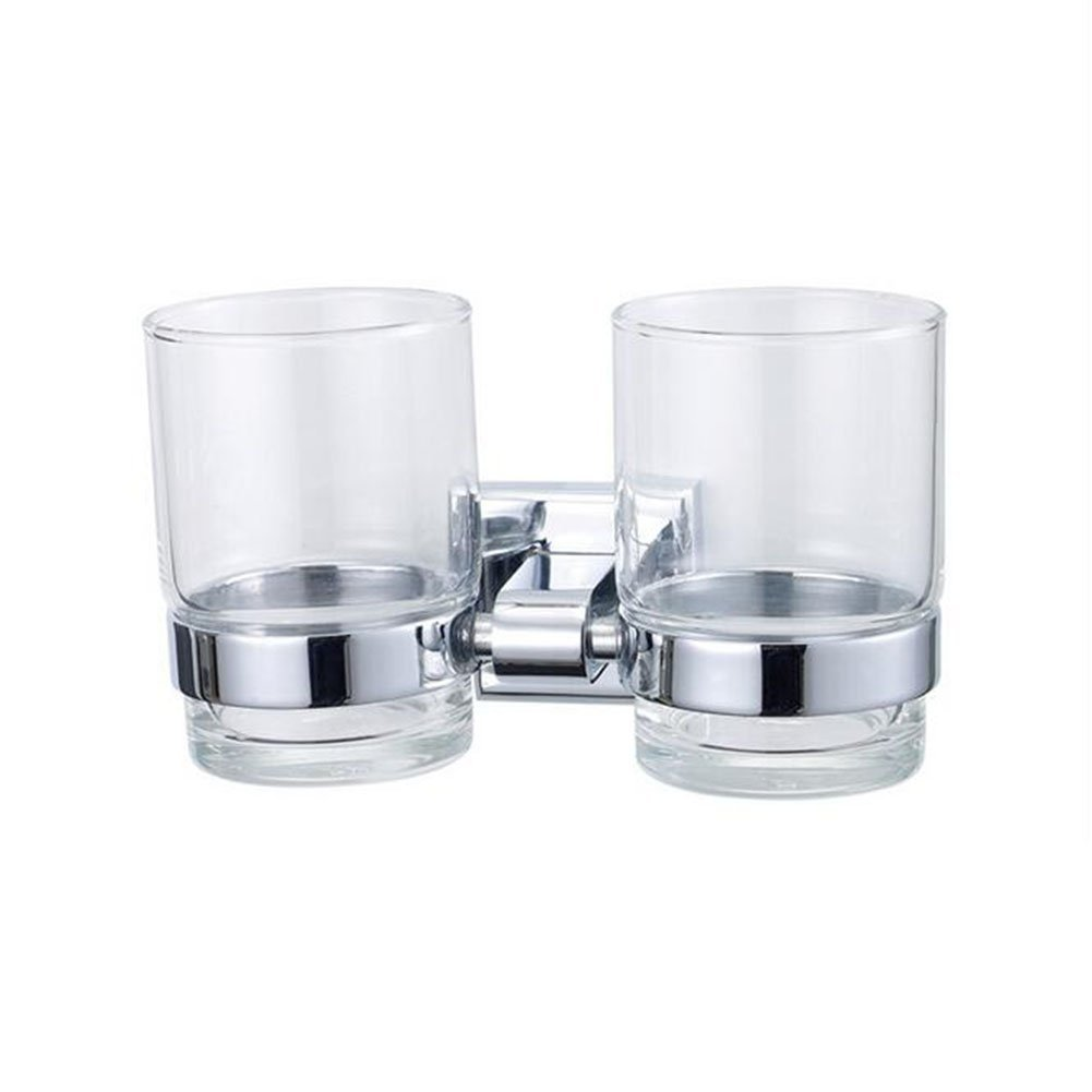 Cup Holders Toothbrush Holder Bathroom Double Cup Holder Stainless Steel Copper Mouth Cup Holder Bathroom Toothbrush Cup Holder