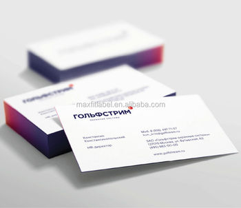Honorable Difference Temperature Color Changing Edge Business Cards