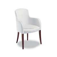 Italian design white leather dining chairs for restaurant YB70117