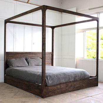 Cheap Low Height Single Canopy Classic Design Wooden Bed Models ...