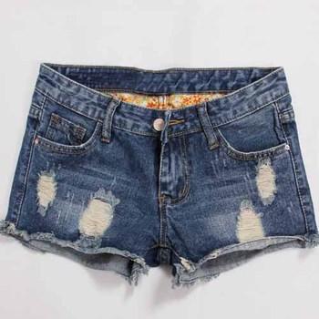 N15041 Terbaru Maxi Denim Celana Pendek Grosir Wanita Pendek Jeans