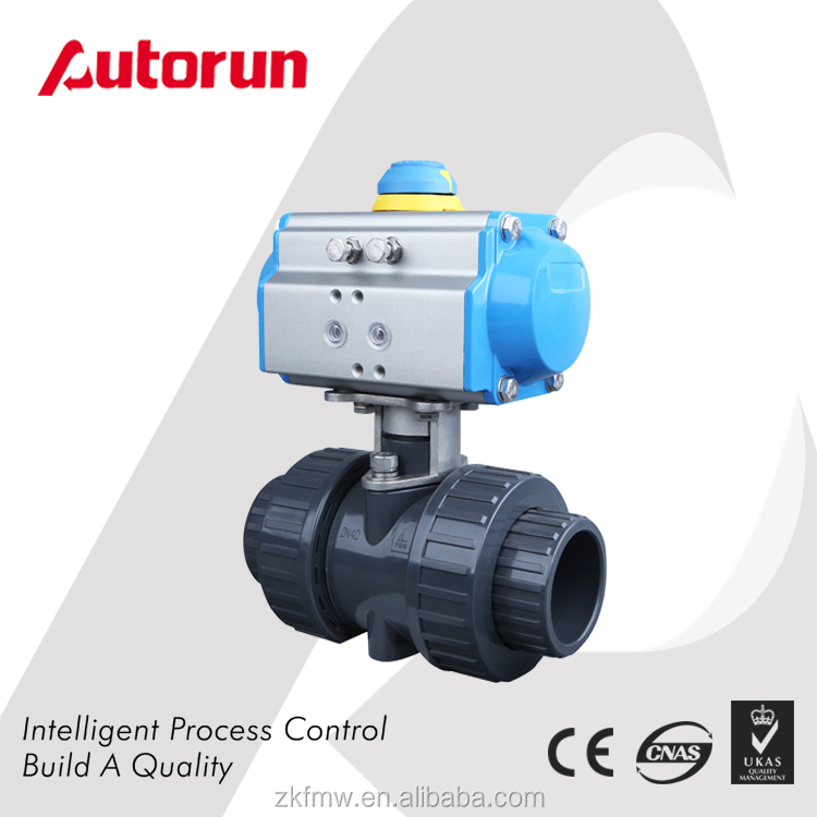 China Wenzhou manufacturer Plastic Motorized PVC Ball Valve