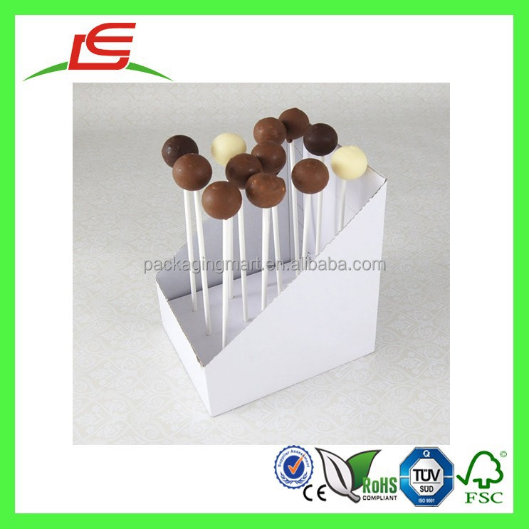 Q1114 China Wholesale Cardboard Carry 12 Cake Pop Packaging Display Box