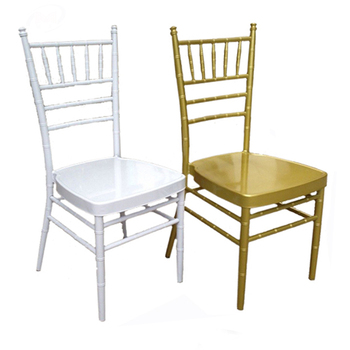 Popular design aluminum white and gold wedding wholesale tiffany chairs