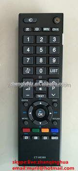 Lcd Remote Control Ct 90380 For Toshiba Tv Black Abs With 42 Keys Short  Mold - Buy Ct Led Controller,Lcd Remote Control,Lcd Tv Control Board  Product