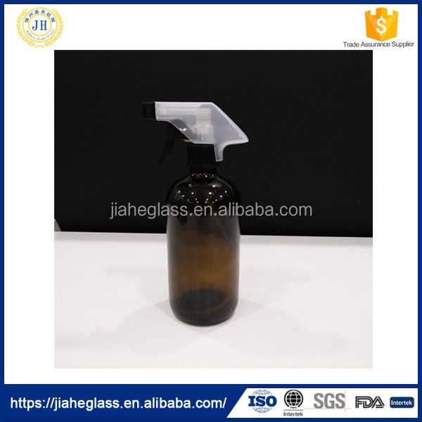 500ml Amber Boston Spray Bottle and Olive Oil Glass Bottle
