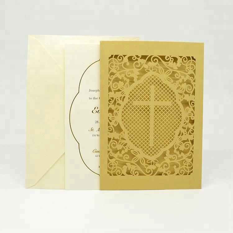 2019 <strong>wedding</strong> cards <strong>luxury</strong> laser cut with envelope